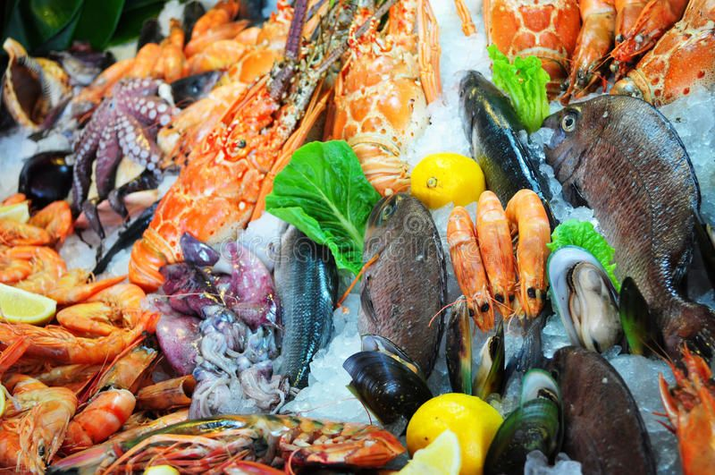 Fresh Seafood Variety Of Fresh Seafood Photographed In Fish Market Affiliate Variety Seafood Fresh Fresh Mark Fresh Seafood Seafood Seafood Stock