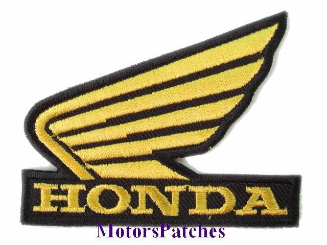 Honda motorcycle logo patches — 1