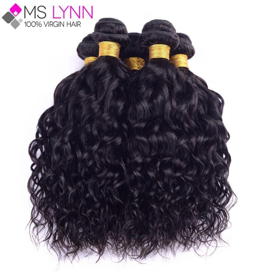 Mslynn peruviana dei capelli del virgin onda naturale 4 bundles, peruviana ricci capelli del virgin pacchi dei capelli umani bagnato ed ondulato morbido capelli peruviani
