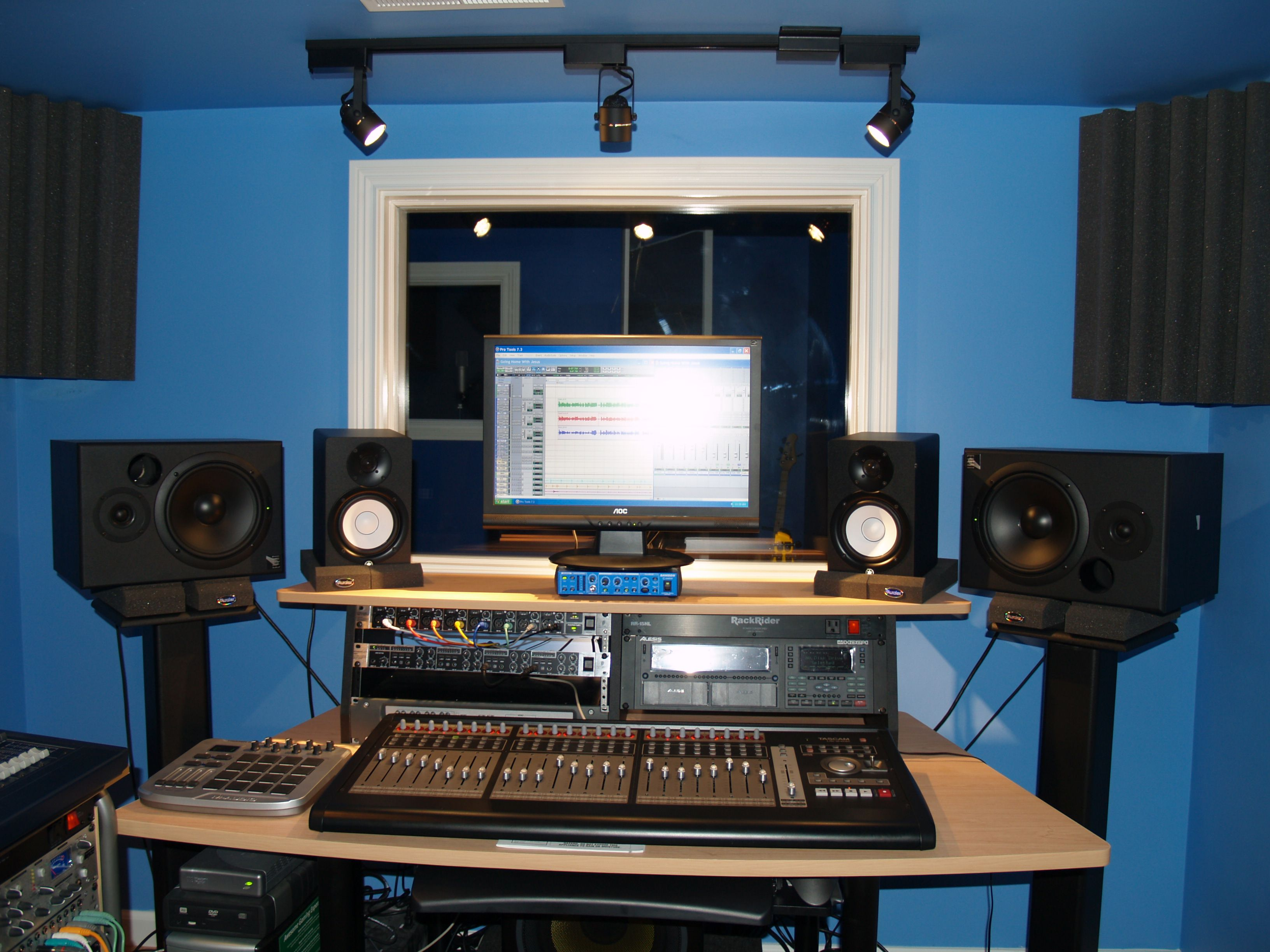Prime Recording Studio Set Up Then Again The Closets Will Be Empty Largest Home Design Picture Inspirations Pitcheantrous