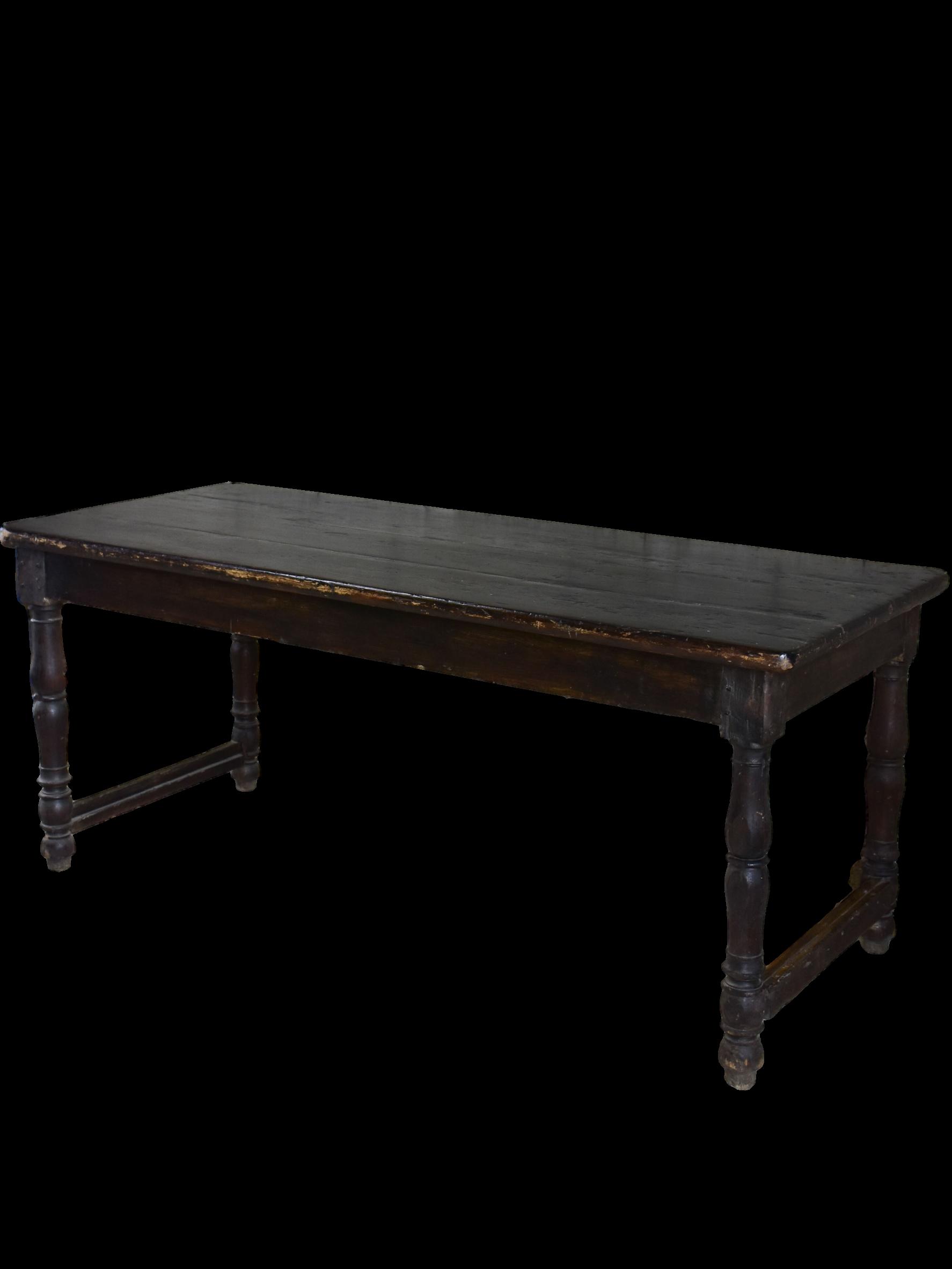 Groovy Antique Italian Console Dining Table Black Farmhouse Theyellowbook Wood Chair Design Ideas Theyellowbookinfo