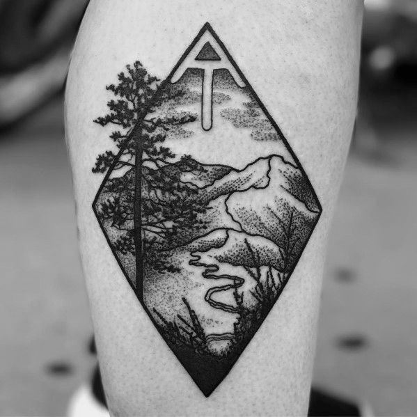 3e2b43ce43688 38 Brave and Committed Hiking and Camping Tattoos | Tattoos ...