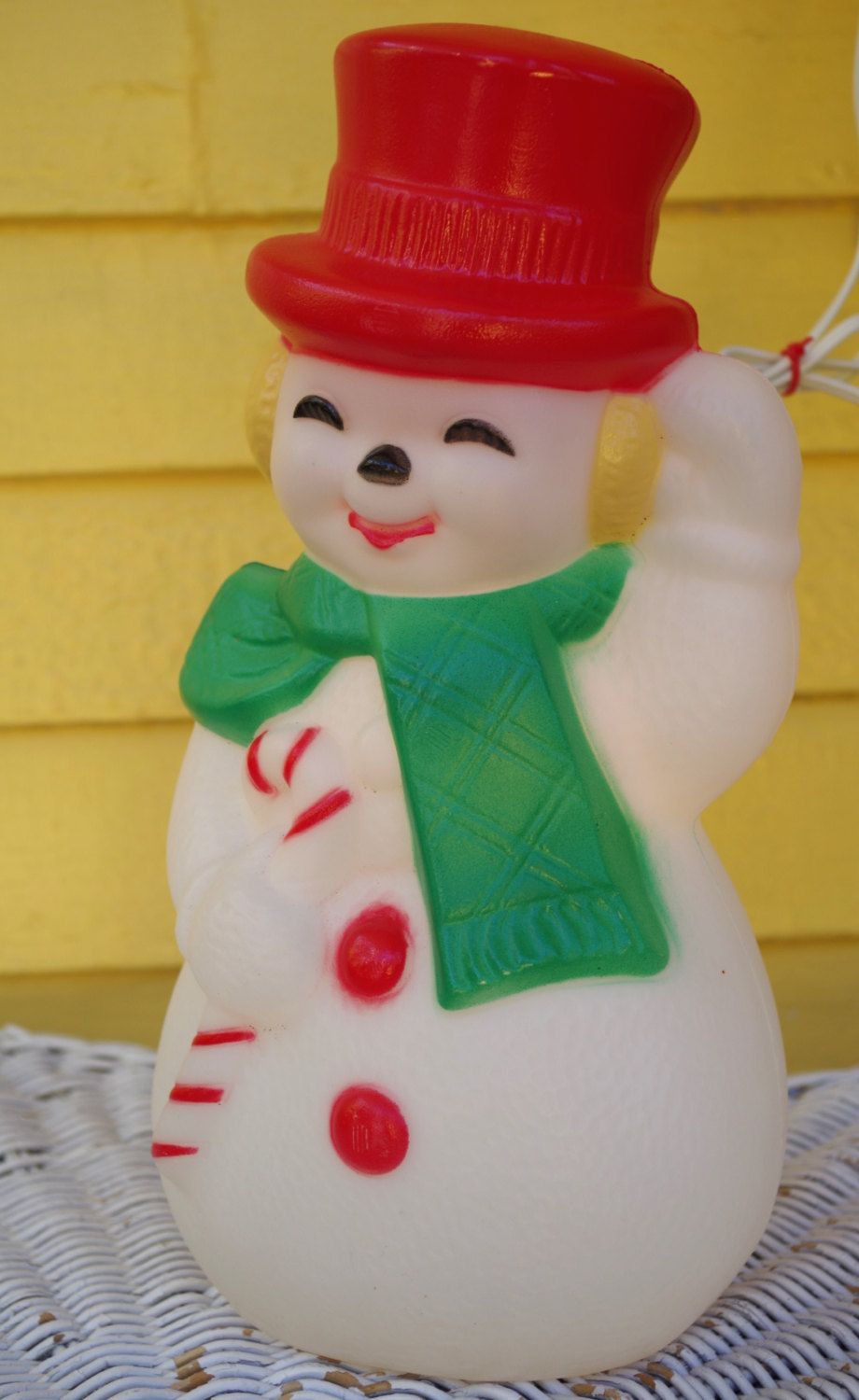 Vintage Blow Mold Frosty The Snowman Light Up Christmas Decoration By Retrowarehouse On Etsy