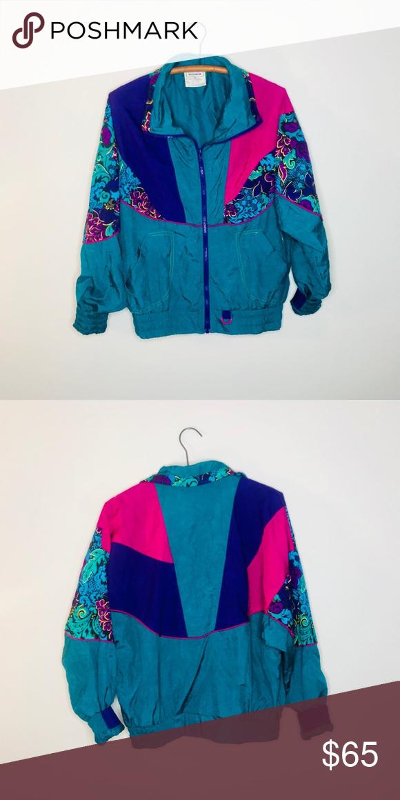 Vintage Retro 80 S 90 S Color Block Windbreaker Vintage Jacket Retro Vintage Clothes Design