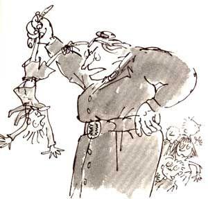 Image result for mrs trunchbull illustration
