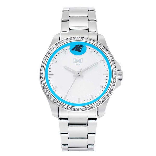 f221d1e46 Women s Carolina Panthers Jack Mason Brand Legacy Crystal 3-Hand Watch