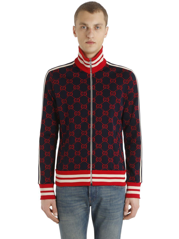 390385217158e7 GUCCI GG ZIPPED JACQUARD TRACK JACKET. #gucci #cloth # | Gucci Men ...