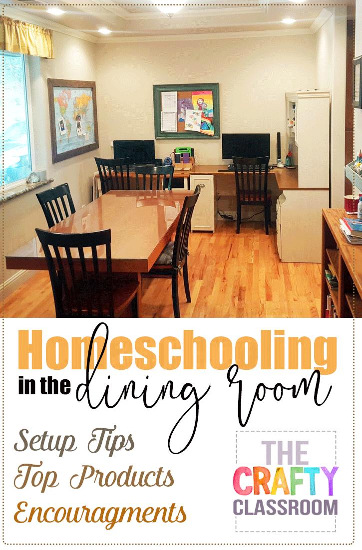 Homeschooling In The Dining Room Homeschool Room Design Homeschool Room Organization Homeschool Room Decor