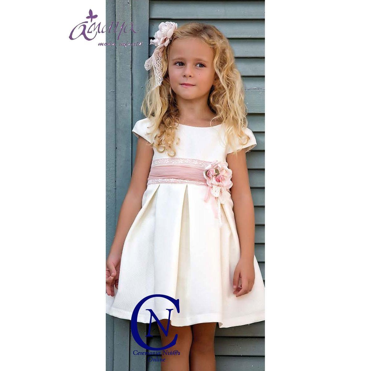 Vestido De Ceremonia Artesania Amaya Modelo 22436 Dresses Flower Girl Dresses Summer Dresses