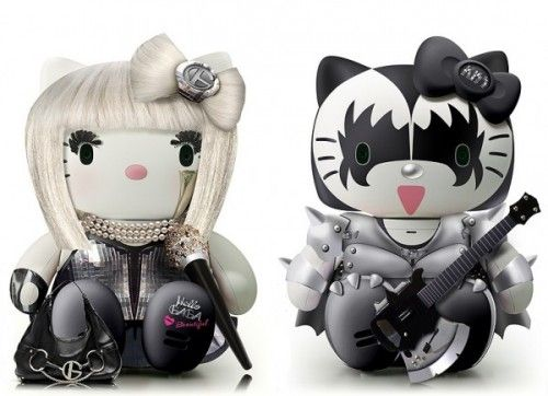 ★ 16 Awesome Hello Kitty Mash-ups: Lady Gaga + Kiss | collection: http://walyou.com/hello-kitty-mashups/#