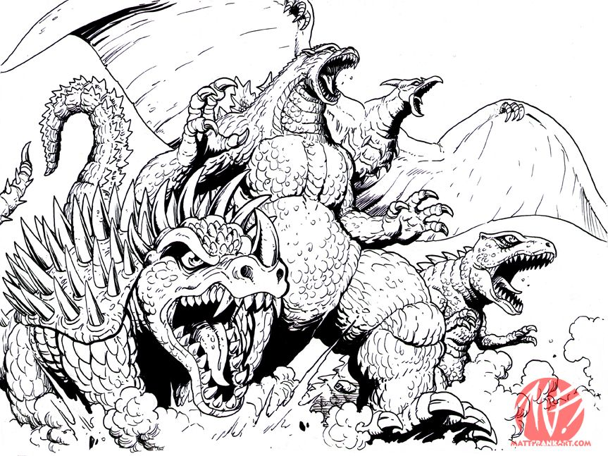 Cloverfieldmonster Coloring Page