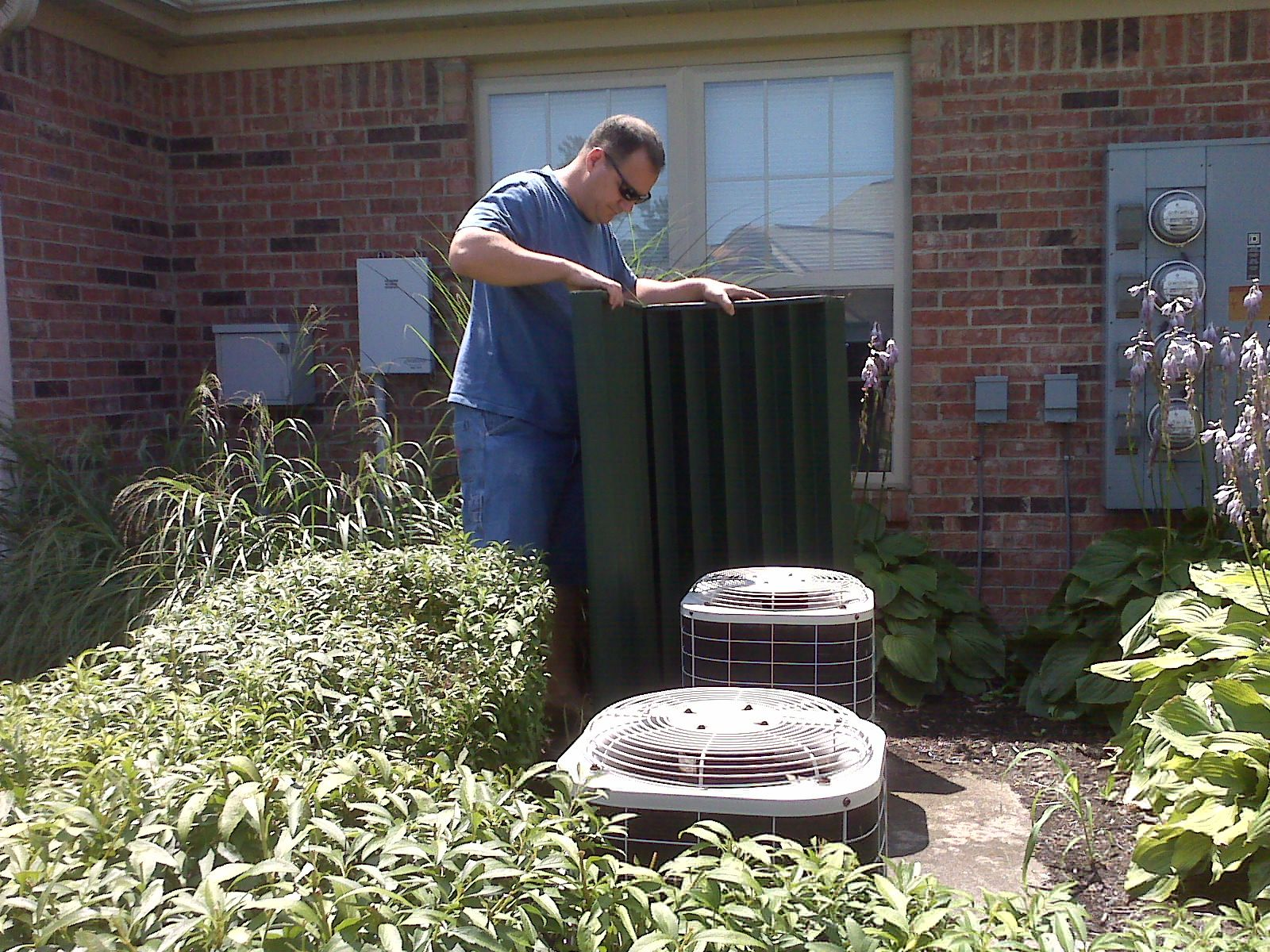 Quiet Fence™ blocks the noise coming from air conditioners