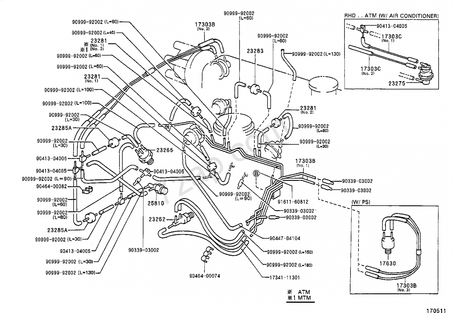 Toyota Corolla 7e Engine Vacuum Diagram Di