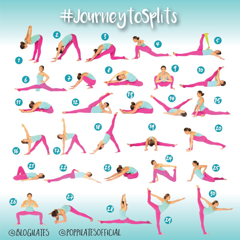 30 Days & 30 Stretches to Splits! #JourneytoSplits – Blogilates