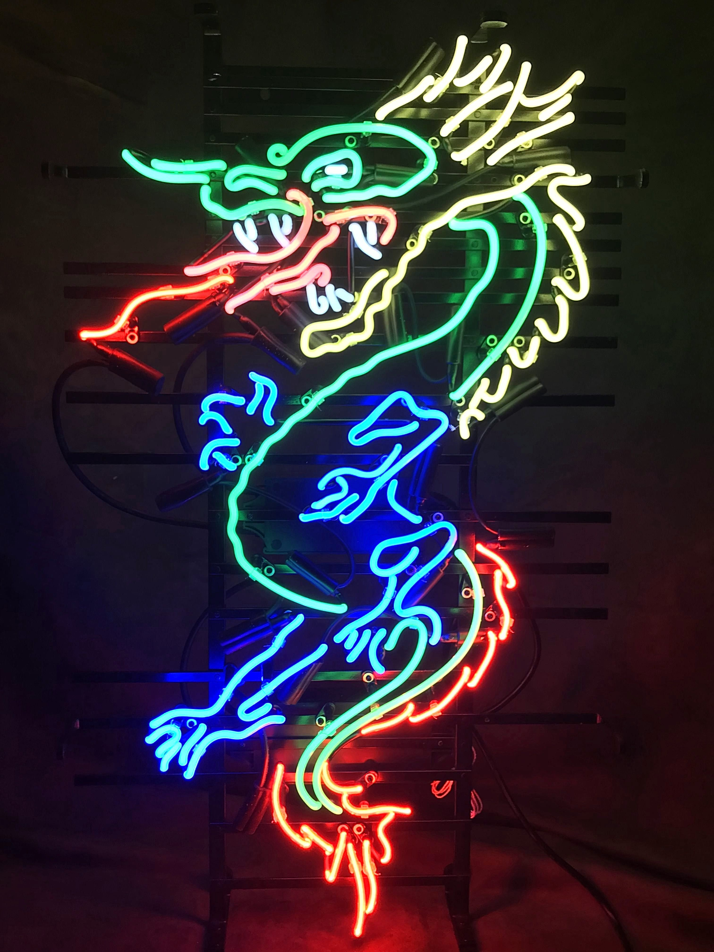 Chinese Dragon Neon Sign Neon Sign Art Neon Signs Neon Art