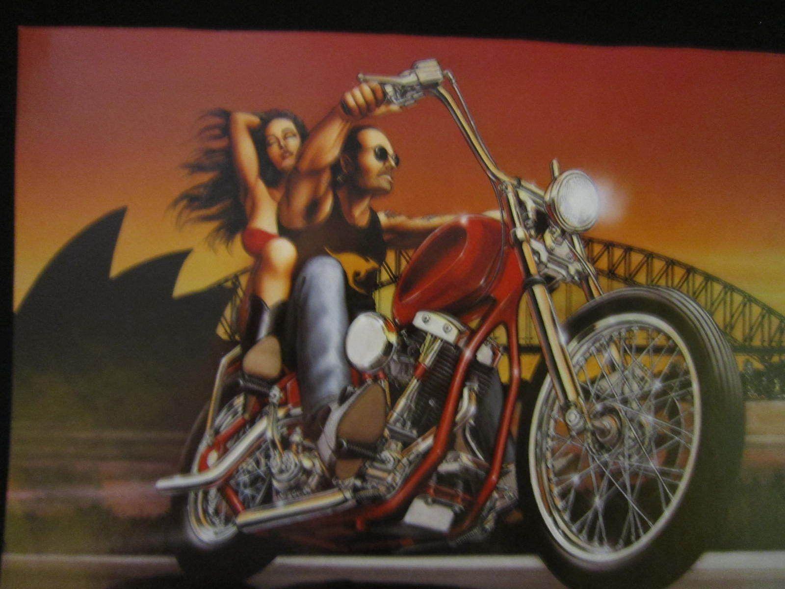 David mann thunder down under easyriders art classic