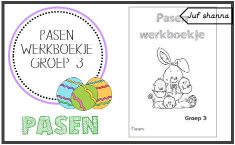 Welp Juf Shanna: Thema Pasen: werkboekje groep 3! - Pasen en Onderwijs RF-32