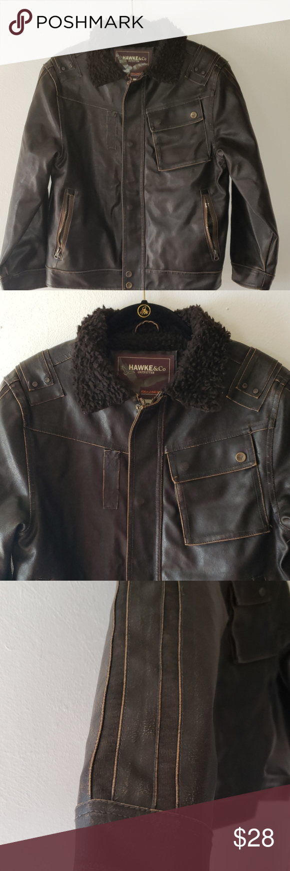 Hawke Co Boys Brown Bomber Jacket Size 10 12 Brown Bomber Jacket Bomber Jacket Jackets [ 1740 x 580 Pixel ]