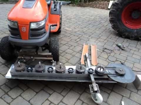 eigenbau m hwerk frontanbau rasentraktor youtube werkstatt pinterest traktor rasen und. Black Bedroom Furniture Sets. Home Design Ideas