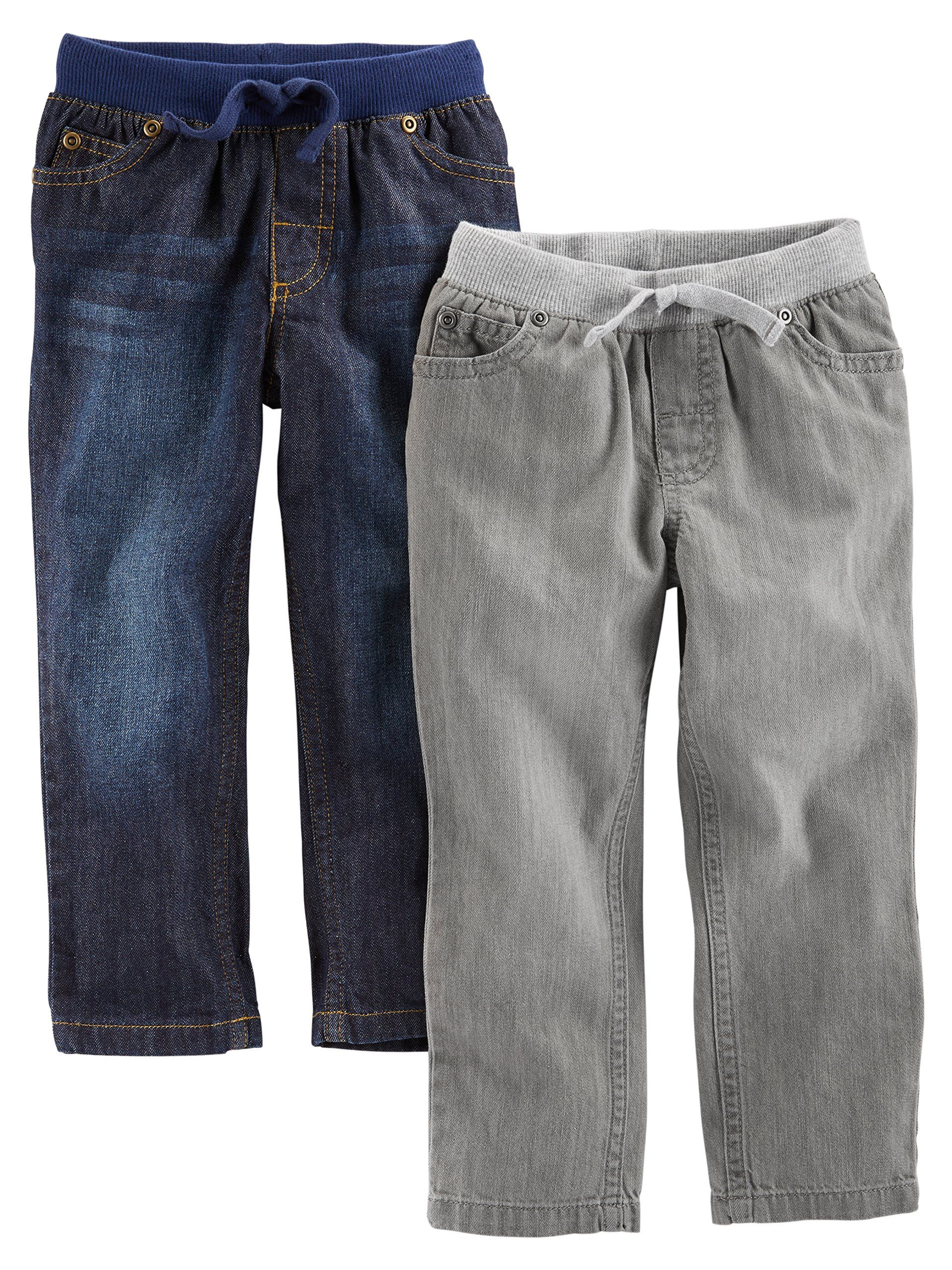e90d1a854 Simple Joys by Carters Baby Boys Toddler 2Pack Pull on Denim Pant Gray Denim  Blue Denim 3T * Want additional info? Click on the image.