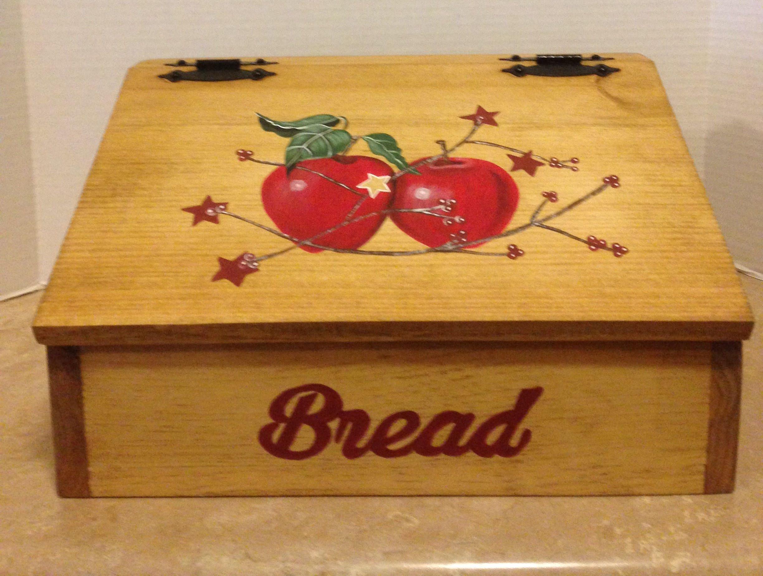 Bread Box Apple Decor Apple Kitchen Decor Primitive apples