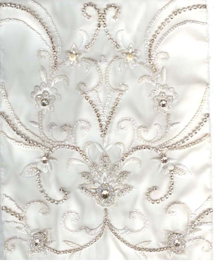 Pearl Embroidered Fabric