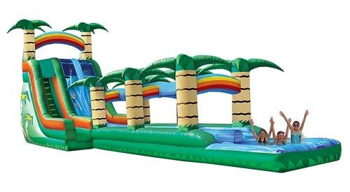 Super Fun Inflatables 53 Ft Tropical Water Slide Super Combo Water Slide Rentals Inflatable Water Slide Blow Up Water Slide