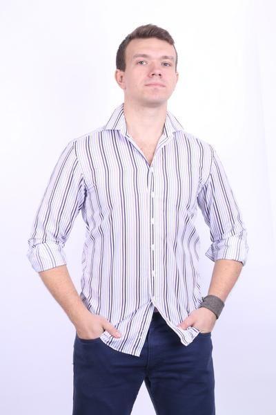3f8552cd2a9 Daniel Hechter Mens 15 S Casual Shirt Cotton White Striped -  RetrospectClothes