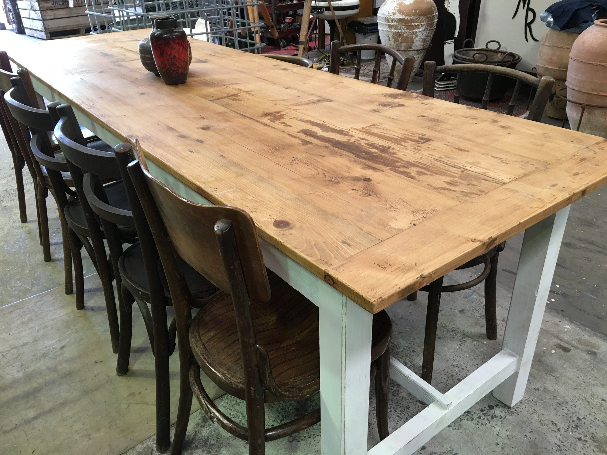 French kitchen table  Vintage industrial French kitchen tables  industrial tables