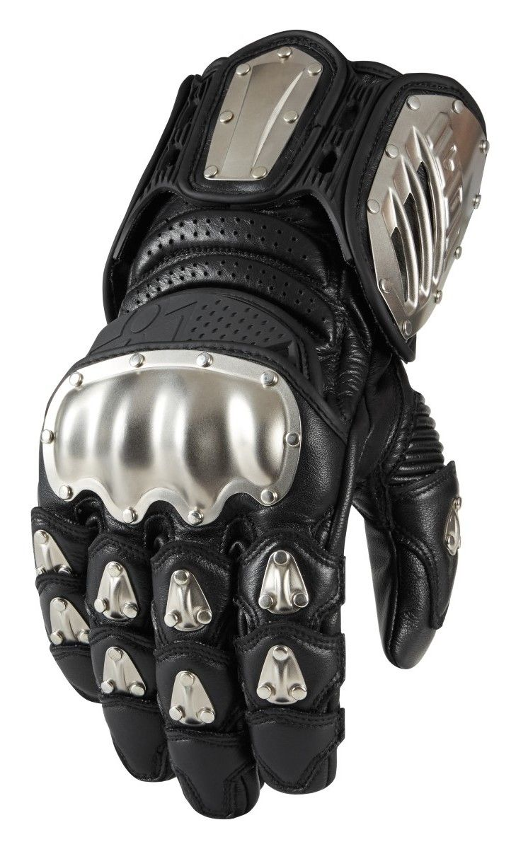 Icon TiMax Long Gloves Motorcycle riding gloves