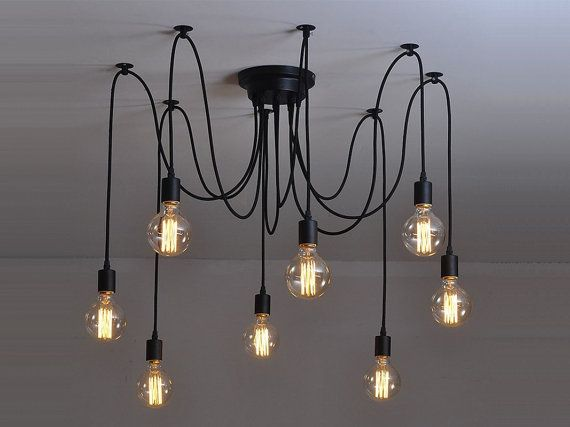 Spider chandelier 6 12 pendant light industrial lighting