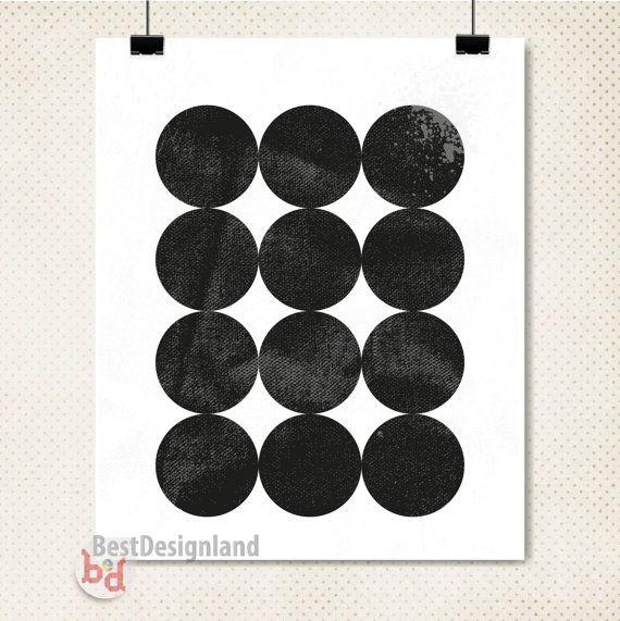 Instant Download geometric circles wall art by BestDesignland