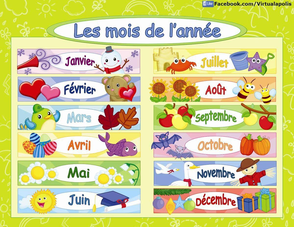 Francais Les Mois De L Annee Chanson Months Of The Year