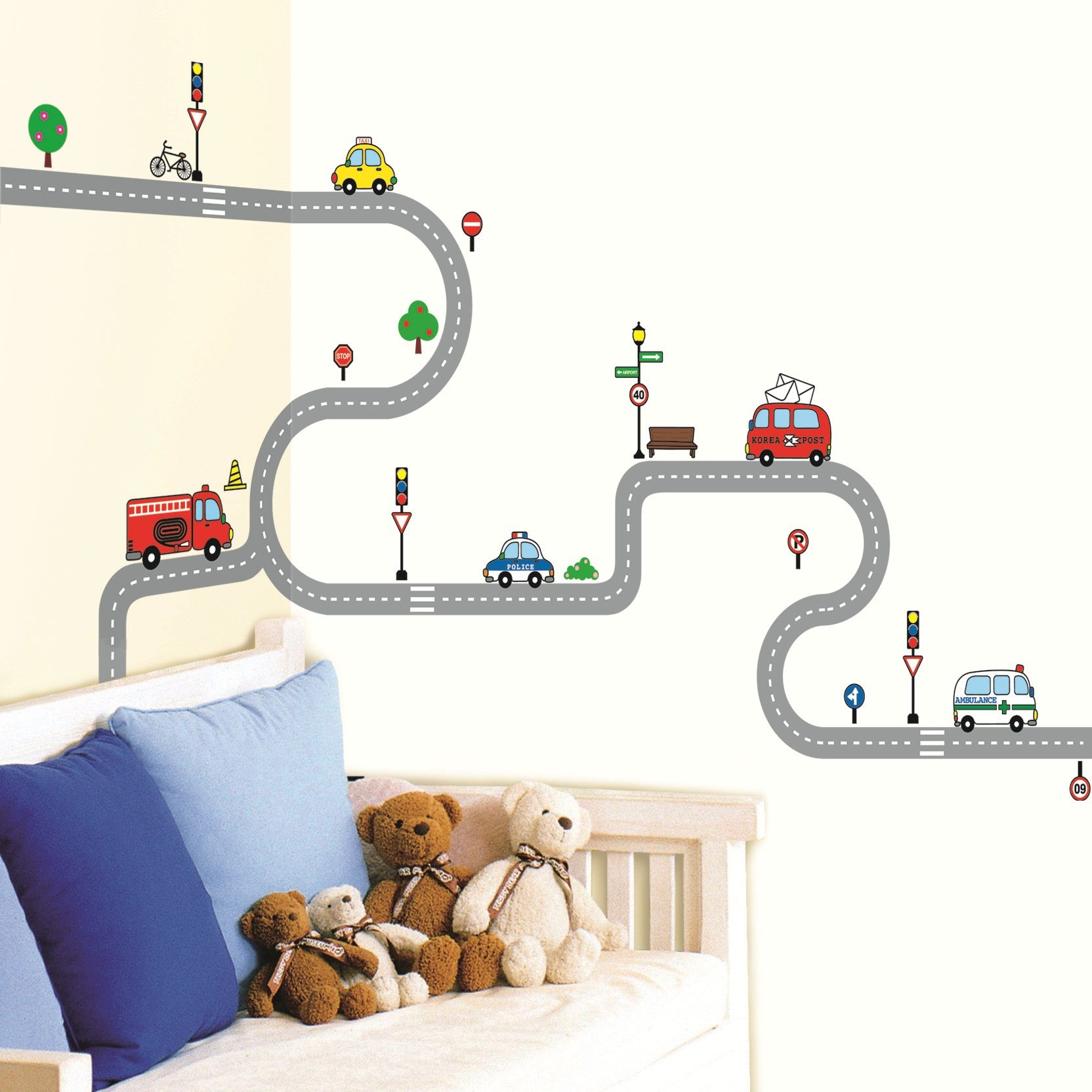 Sticker petites voitures   Décoration chambre enfant ...