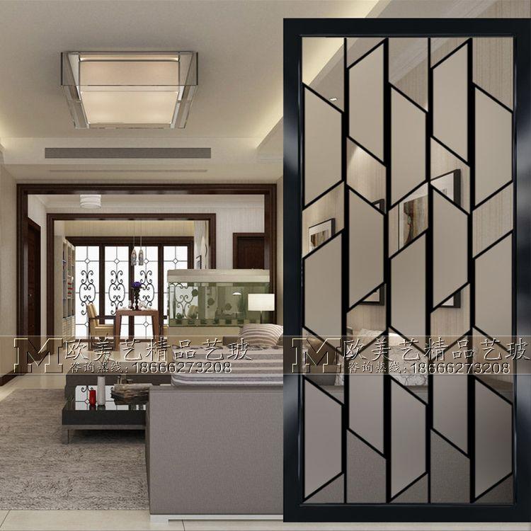 Home Furnishings Art Glass Partition Wall Light Luxury Screen Tempered Modern Decoration Si Design De Interiores Casa Paredes De Divisorias Moldagem De Paredes