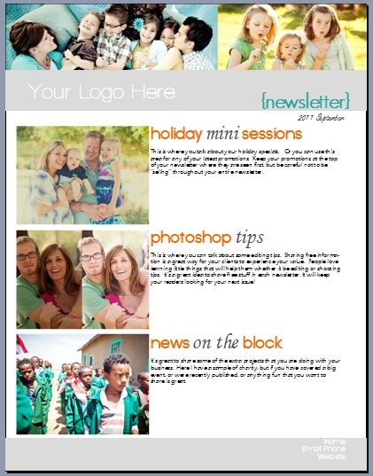 photographers newsletter layout photography resources pinterest