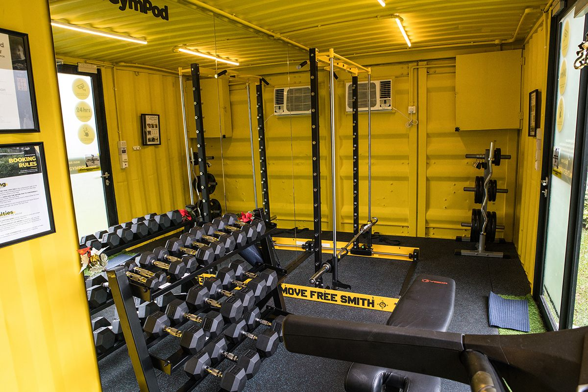 The Gym Pod Sea S First 24 Hr Smart Container Gym Chain Gym Room At Home Home Gym Design Container Gym