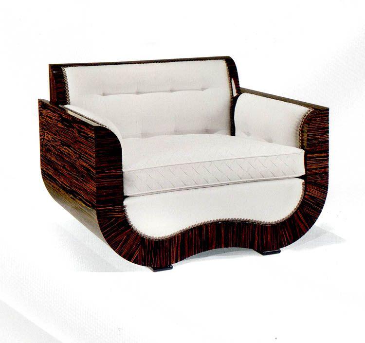 TL FURNITURE | A Sculptural Macassar Chair. Macassar Ebony Furniture.