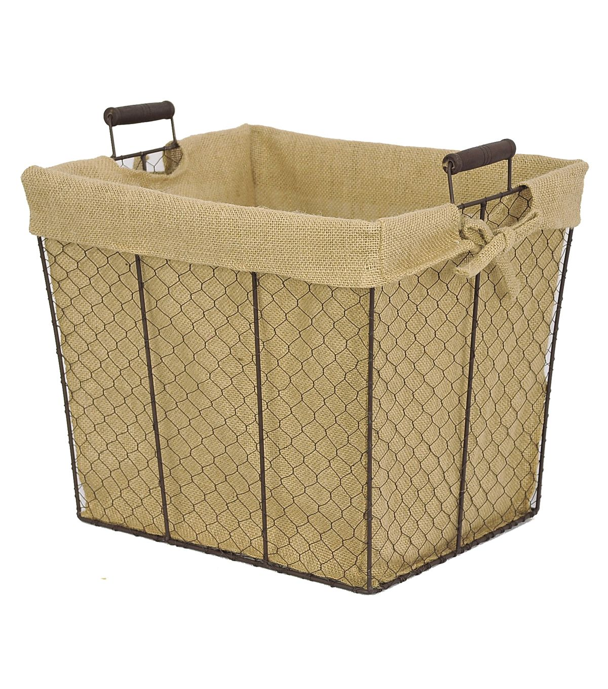 Organizing Essentials 15x12 Wire Basket With Burlap Liner At Joann.com