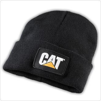 a9efd2c3154 CAT Hats - CAT Caps - Caterpillar CAT Black Knit Winter Trucker Cap -  Caterpillar Winter Beanie Caps