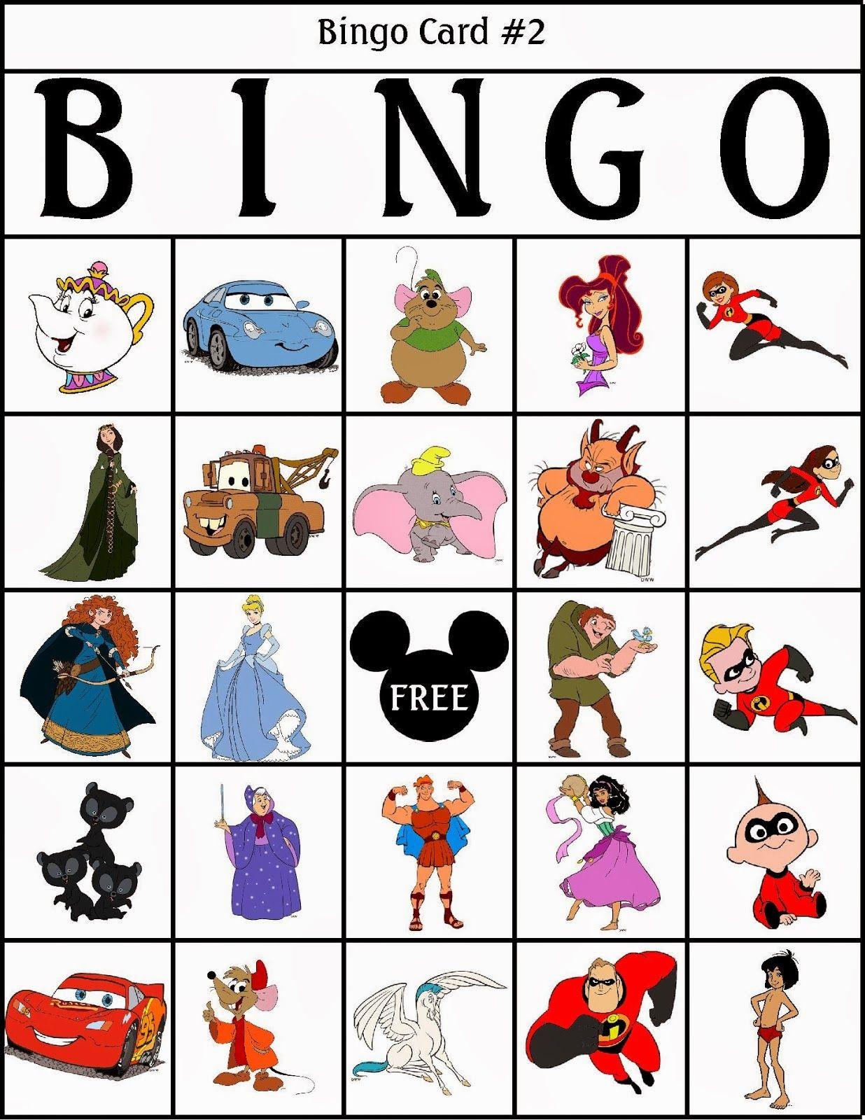 Bingo de Personajes Disney, para Imprimir Gratis.   Character bingo ...