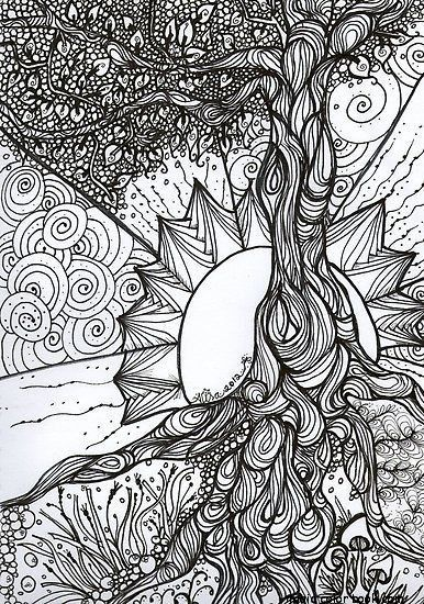 girls coloring pages online free print sun symmetry adult - Adult Coloring Pages Online