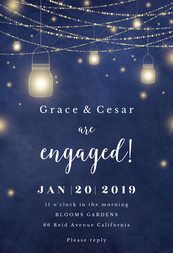 Strings Of Lights Engagement Party Invitation Template Greetings Island Engagement Party Invitations Party Invite Template Engagement Party
