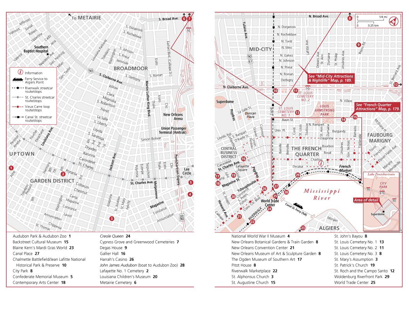 NEW ORLEANS ATTRACTIONS MAP FROMMERS New Orleans 2016