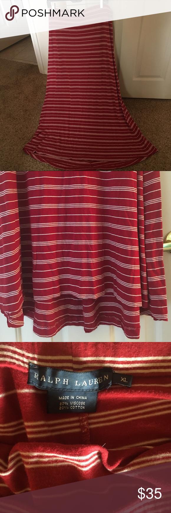 Ralph Lauren High Low Maxi Skirt Great condition maxi skirt Ralph Lauren Skirts Maxi
