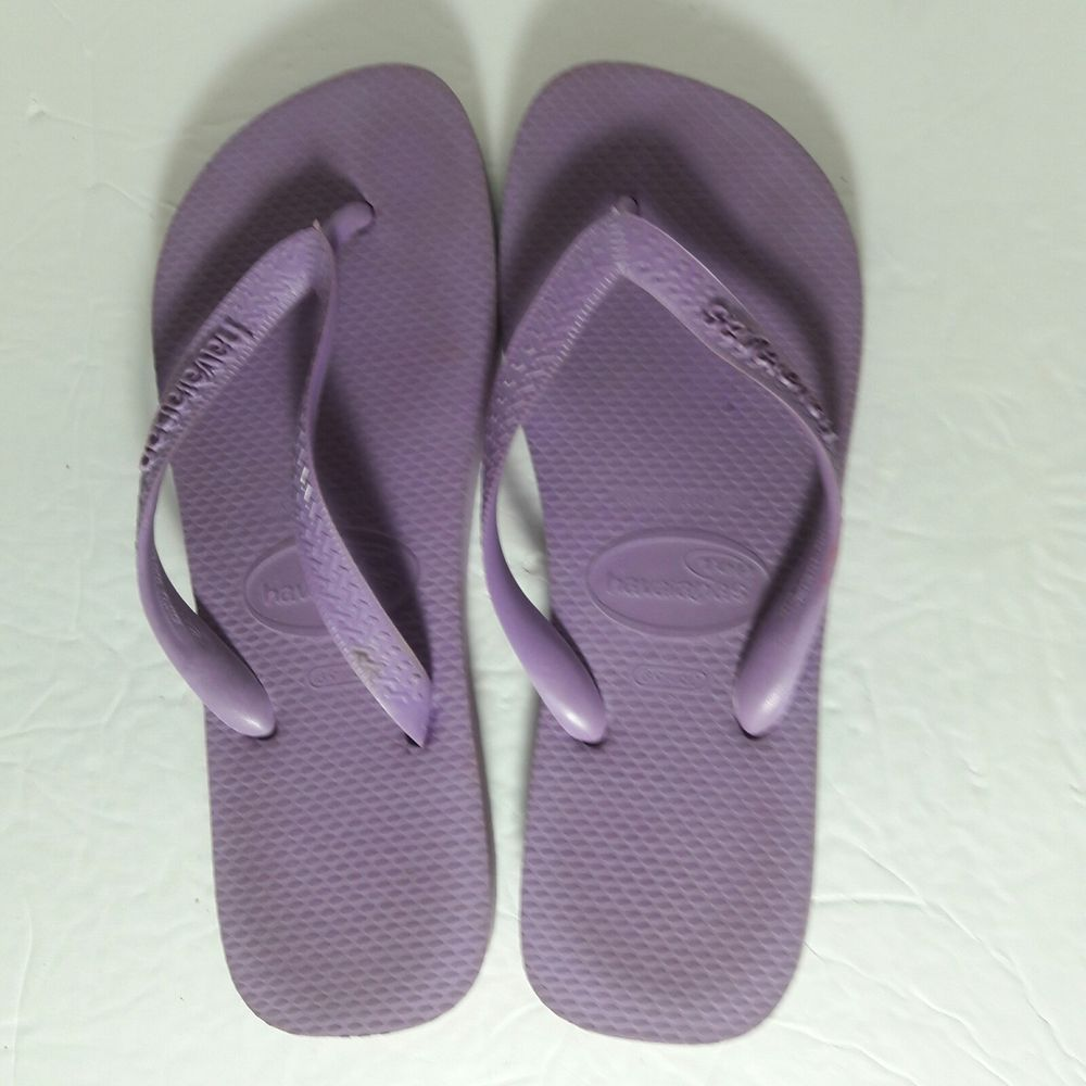 3c5dda8f0c3950 Havaianas flip flops Purple Thongs Rubber Sandals 7 8 Shower Shoes Beach  Wear