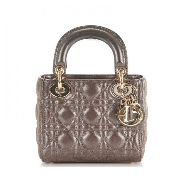 choose official get online brand new CHRISTIAN DIOR Metallic Calfskin Cannage Mini Lady Dior ...