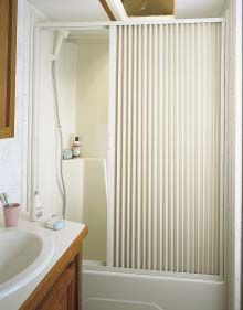 Pleated Shower Door White Up To 36 Quot W X 57 Quot L