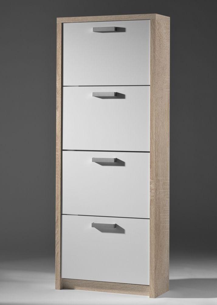 Schuhschrank Big 4 Eiche Sägerau Weiß 6204. Buy now at https://www ...