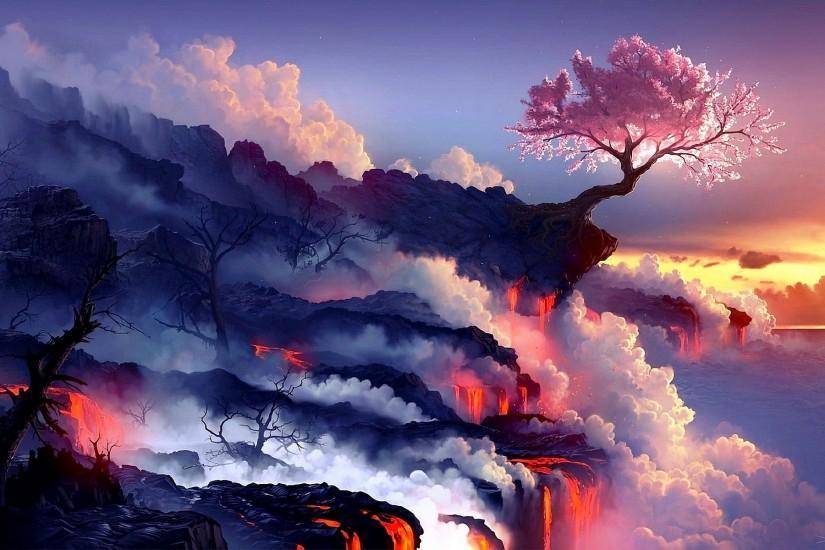 45 Ultra Hd Wallpapers 8k Download Free Beautiful Full Hd Wallpapers For Desktop Mobile Laptop In Landscape Wallpaper Fantasy Landscape Volcano Wallpaper